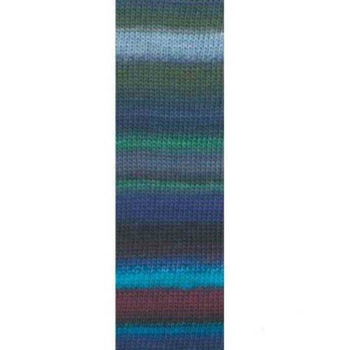 Lang Yarns Lang Yarns Mille Colori Socks Lace Luxe 06 blauw groen