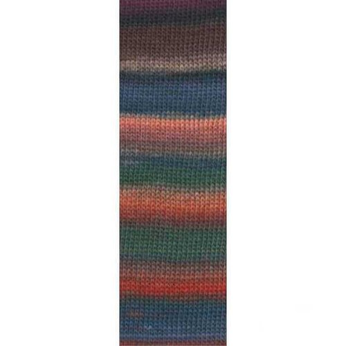 Lang Yarns Lang Yarns Mille Colori Socks Lace Luxe 16 groen bruin oranje