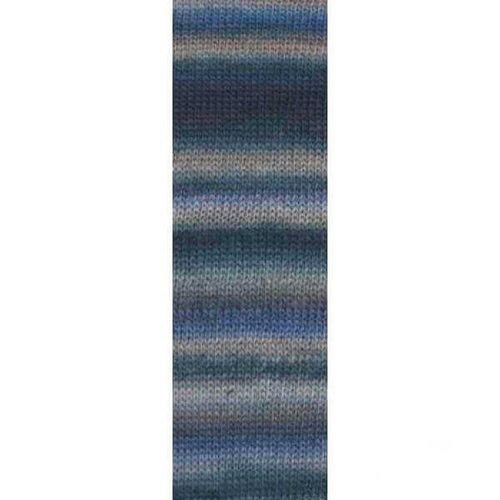 Lang Yarns Lang Yarns Mille Colori Socks Lace Luxe 45 blauw grijs