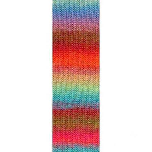 Lang Yarns Lang Yarns Mille Colori Socks Lace Luxe 51 Roze blauw