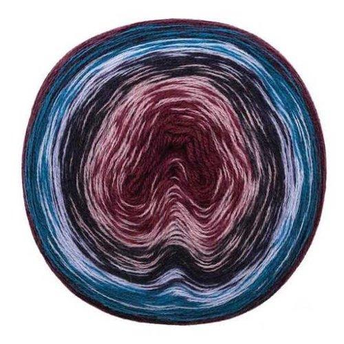 Creative Wool Degradé Super 6  blauw paars 005