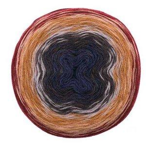 Creative Wool Degradé Super 6 Rot blauw 007