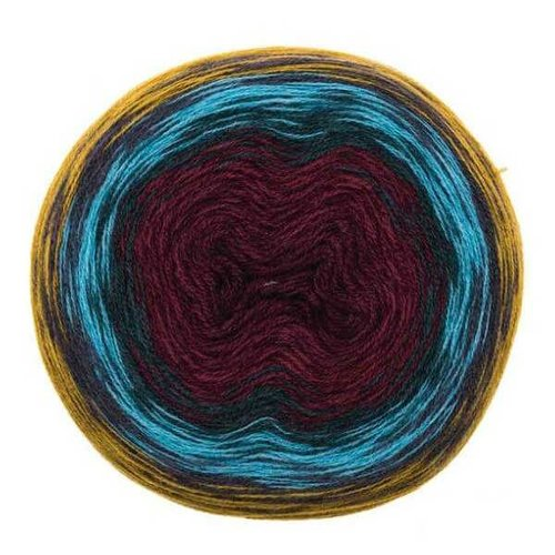 Creative Wool Degradé Super 6 Senf rot 006