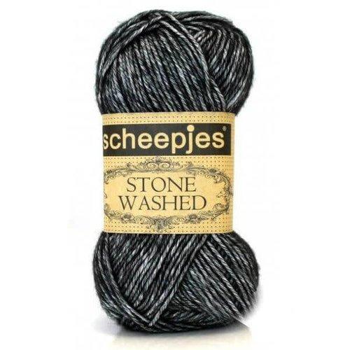 Scheepjes Scheepjes Stone Washed  803 Black Onyx