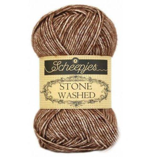Scheepjes Scheepjes Stone Washed  822 Brown Agate