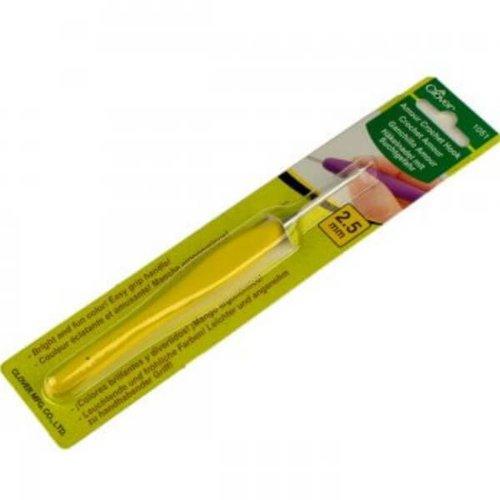 Clover 2,5mm geel Clover Amour haaknaald