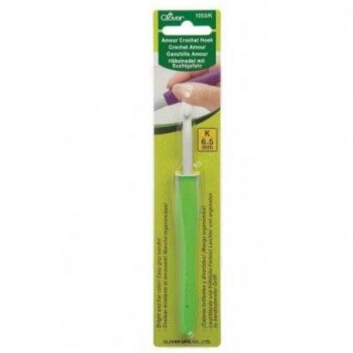 Clover 6,5mm groen Clover Amour haaknaald
