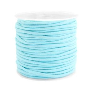 Gekleurde elastiek 2,50mm aqua blue 0,5m