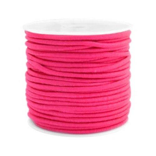 kralen.nl Gekleurde elastiek 2,5mm fuchsia pink 0,5m