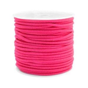 Gekleurde elastiek 2,5mm fuchsia pink 0,5m