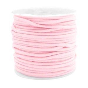 Gekleurde elastiek 2,5mm light pink 0.5m
