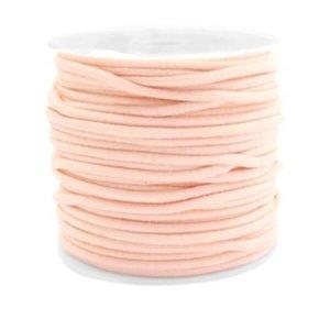 Gekleurde elastiek 2,5mm pastel peach 0.5m