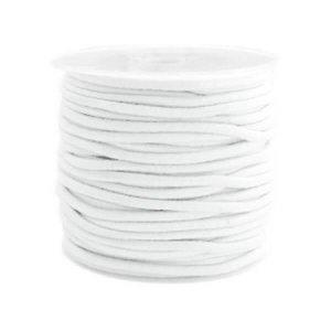 Gekleurde elastiek 2,5mm white 0.5m