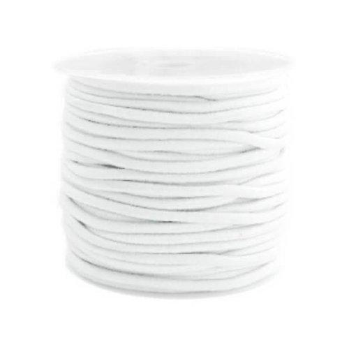 kralen.nl Gekleurde elastiek 2,5mm white 0.5m