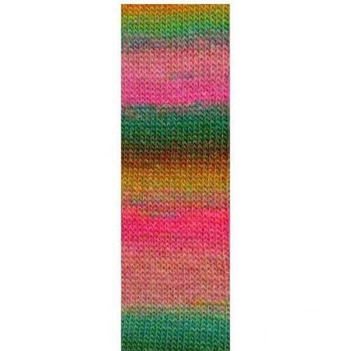 Lang Yarns Lang Yarns Mille Colori Socks Lace Luxe 55 Roze groen