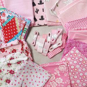 mondkapje naaipakket licht roze