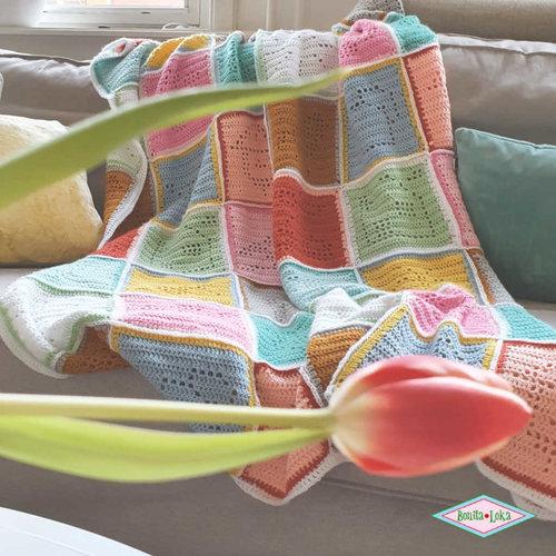 Colour Crafter Lente kleurtjes blokkendeken