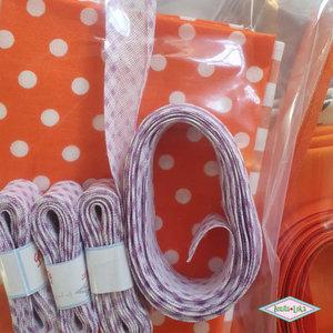 Oranje of rood (4x + biabs) 4 mondkapjes DIY