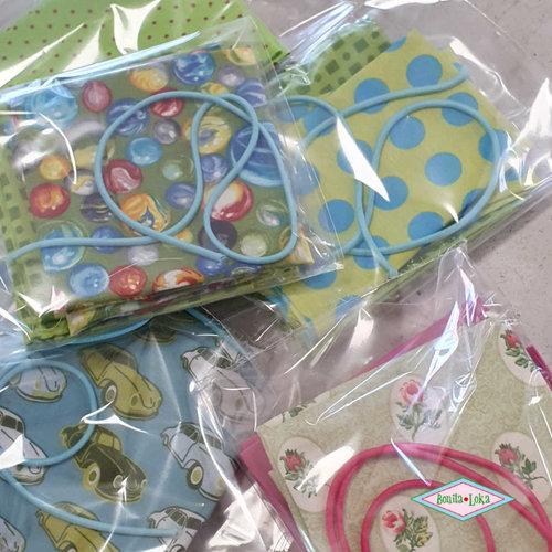 Groen (1 met elastiek) 1 mondkapje pakket
