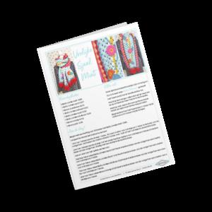 Vrolijke sjaal Mint patroon