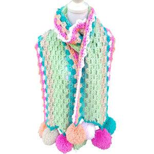 Vrolijke sjaal Summer patroon