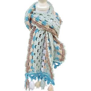 Vrolijke sjaal Vintage mint patroon
