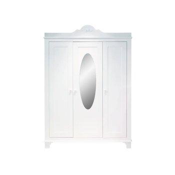 Bopita Bopita Romantic 3-deurs Kast met spiegel Wit
