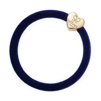 byEloise byEloise Velvet Gold Heart Navy Blue