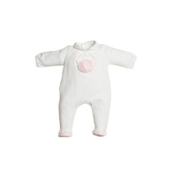 First First Fluffy Teddy on front Babypakje Wit/Roze