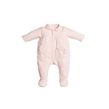 First First Heart pockets on front Babypakje Roze