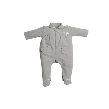 First First Teddy pockets on front Babypakje Grijs