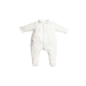 First First Teddy pockets Strass Babypakje Wit/Roze