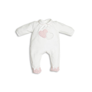First First Double Heart Babypakje Wit/Roze