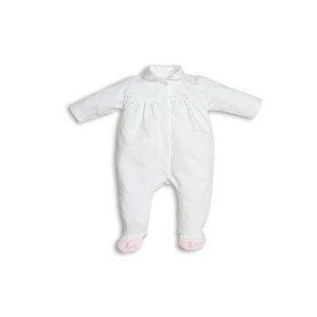 First First Teddy on back Babypakje Wit/Roze