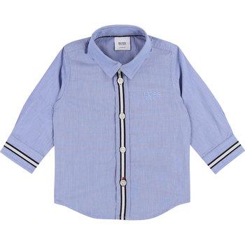Hugo Boss Boss Motief Overhemd Lichtblauw