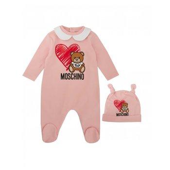 Moschino Moschino Babypakje met Mutsje Roze