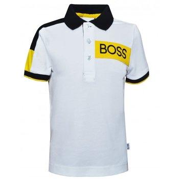 Hugo Boss Boss Polo Wit/Geel