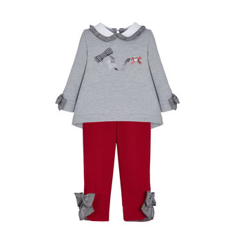 Lapin house Lapin 2-delige Set Grijs/Rood