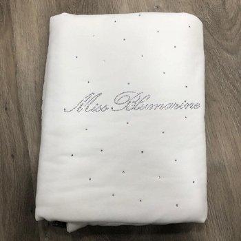 Miss Blumarine Blumarine Deken/Omslagdoek met Strass Offwhite