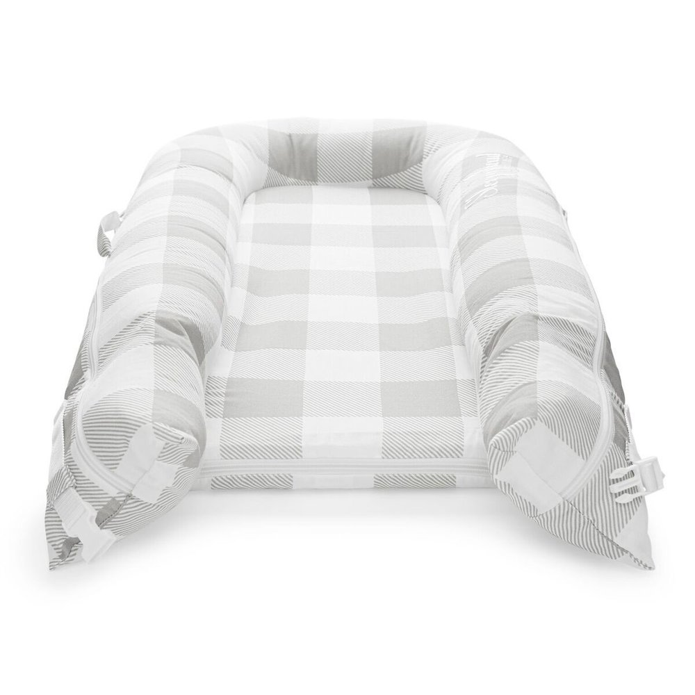 Sleepyhead Sleepyhead Deluxe+ Natural Plaid (0-8M)