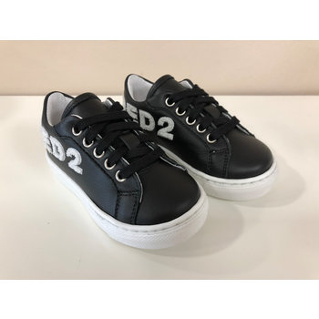 Dsquared2 Dsquared2 Sneakers Zwart met Witte Letters