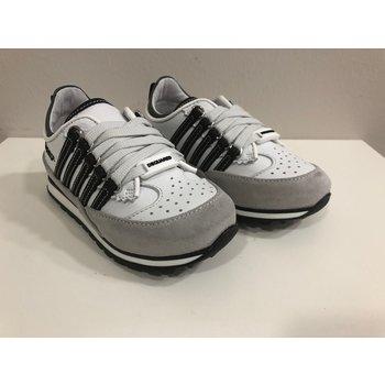 Dsquared2 Dsquared2 Sneakers Wit met Zwarte Strepen