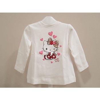 Monnalisa Monnalisa Hello Kitty Longsleeve Creme/Roze