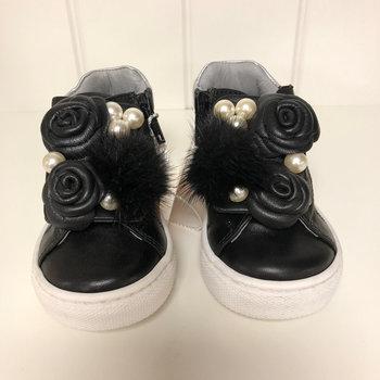 Miss Blumarine Blumarine, Sneaker met Parels Zwart