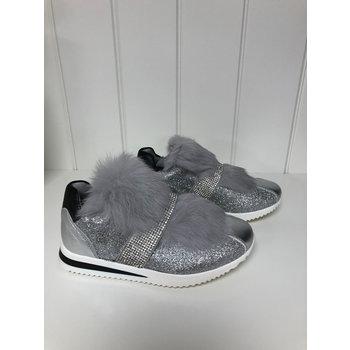 Miss Blumarine Blumarina Sneakers met Bontje Zilver