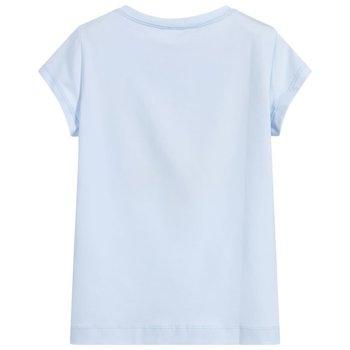Monnalisa Monnalisa Strass Basis T-shirt Lichtblauw