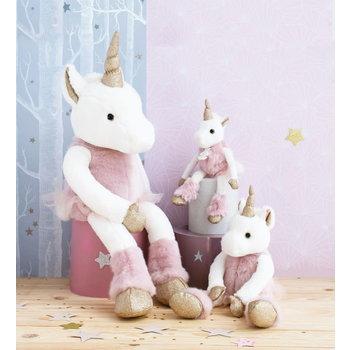 Doudou et Compagnie Histoire Glitter Unicorn Roze 60cm