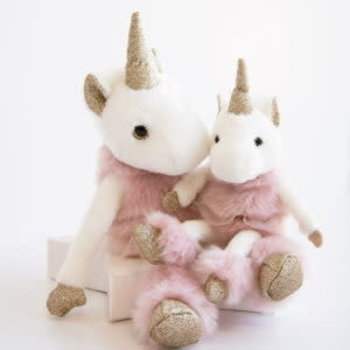 Doudou et Compagnie Histoire Glitter Unicorn 35cm