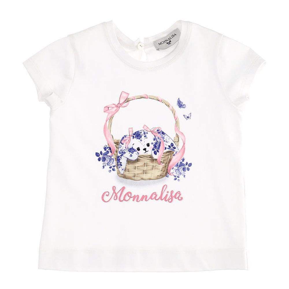 Monnalisa Monnalisa Mandje Delftsblauw T-shirt