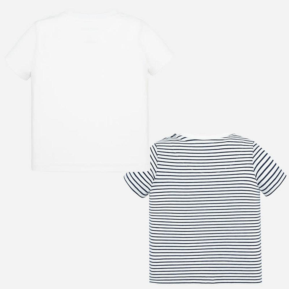 Mayoral Mayoral 2 Set T-shirts Wit